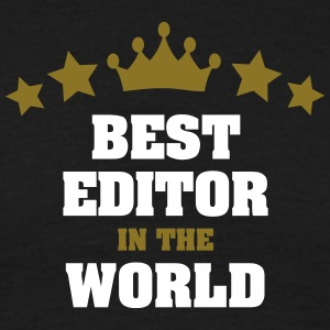 best editor in the world stars crown - Men's T-Shirt