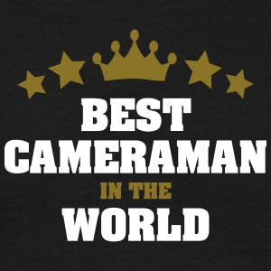 best cameraman in the world stars crown - Men's T-Shirt