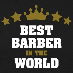 best barber in the world stars crown - Men's T-Shirt