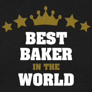 best baker in the world stars crown - Men's T-Shirt