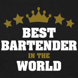best bartender in the world stars crown - Men's T-Shirt