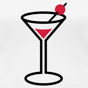 Martini cocktail glass T-Shirts - Women's Premium T-Shirt