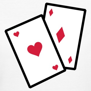 Gambling poker cards T-Shirts - Women's Organic T-shirt