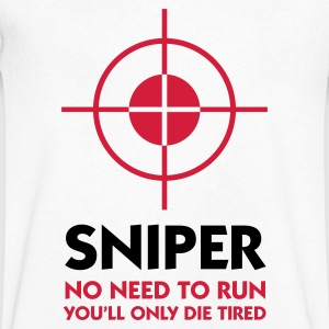 Sniper: I ll spare you the running! T-Shirts - Men's V-Neck T-Shirt