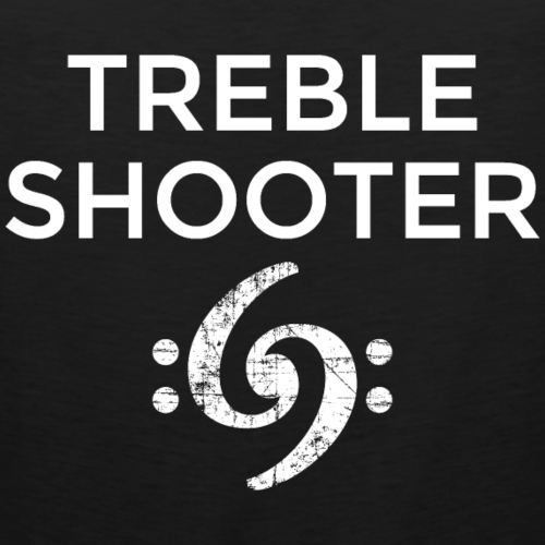 Treble Shooter Bass Design (White)