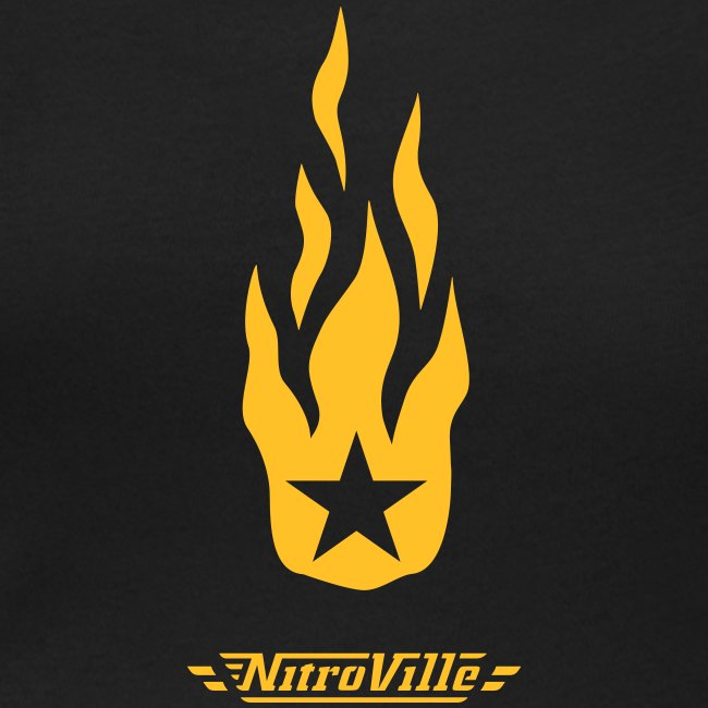 NITROVILLE official scoop neck for women (firebrand)
