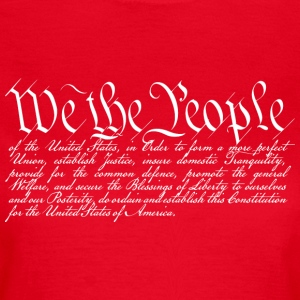 We the People (dark) Tee shirts - T-shirt Femme