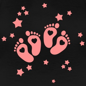 Twins Feet - Zwillings Füße T-Shirts - Frauen Premium T-Shirt