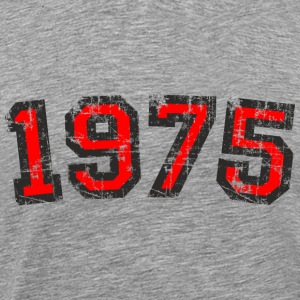 Year 1975 Birthday Design Vintage Red (EU) T-Shirts - Men's Premium T-Shirt