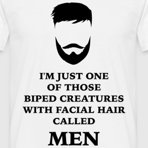 Manliness beard - Men's T-Shirt