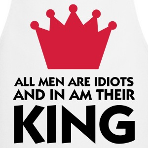 I married the king of idiots!  Aprons - Cooking Apron