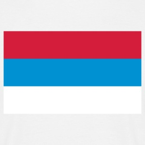 National Flag of Serbia T-Shirts - Men's T-Shirt