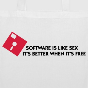 Software is like sex. Free is always better! Bags & Backpacks - Tote Bag