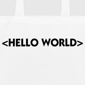 Hello World Bags & Backpacks - EarthPositive Tote Bag