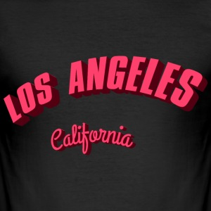 Los-Angeles-California-re T-Shirts - Männer Slim Fit T-Shirt