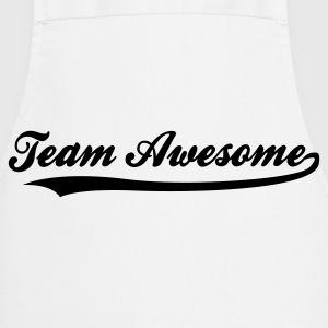 Team awesome! Kookschorten - Keukenschort