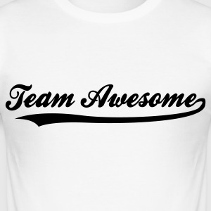 Team awesome! T-shirts - Slim Fit T-shirt herr