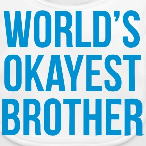 WORLD'S OKAYEST BROTHER Accessories - Baby Organic Bib