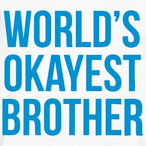 WORLD'S OKAYEST BROTHER Tee shirts - T-shirt Homme col V