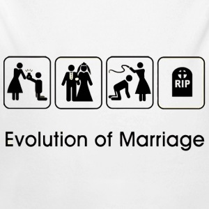 EVOLUTION OF MARRIAGE Baby Bodys - Baby Bio-Langarm-Body