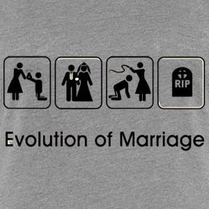 EVOLUTION OF MARRIAGE Koszulki - Koszulka damska Premium