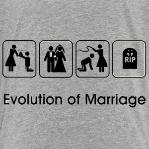 EVOLUTION OF MARRIAGE Skjorter - Premium T-skjorte for barn