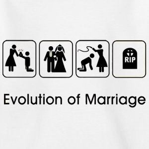 EVOLUTION OF MARRIAGE Shirts - Kids' T-Shirt