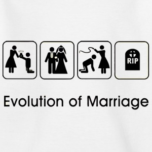 EVOLUTION OF MARRIAGE Magliette - Maglietta per ragazzi