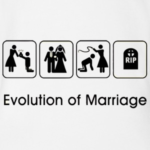 EVOLUTION OF MARRIAGE Shirts - Baby bio-rompertje met korte mouwen