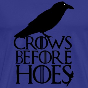CROWS BEFORE HOES T-Shirts - Men's Premium T-Shirt