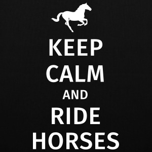 keep calm and ride horses Bags & Backpacks - Tote Bag