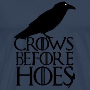 CROWS BEFORE HOES T-shirts - Mannen Premium T-shirt