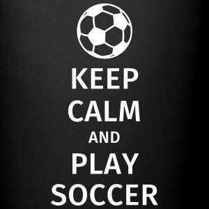 keep calm and play soccer Mugs & Drinkware - Full Colour Mug
