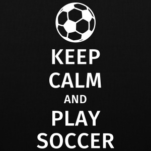 keep calm and play soccer Bags & Backpacks - Tote Bag