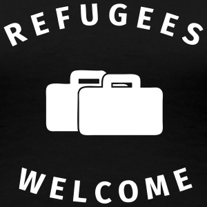 refugees welcome T-skjorter - Premium T-skjorte for kvinner