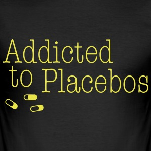 Addicted to Placebos T-Shirts - Men's Slim Fit T-Shirt