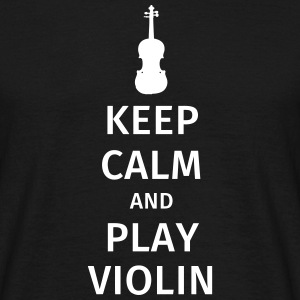 keep calm and play violin T-skjorter - T-skjorte for menn