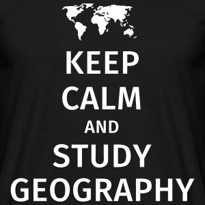keep calm and study geography T-shirts - T-shirt herr