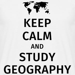 keep calm and study geography Koszulki - Koszulka męska