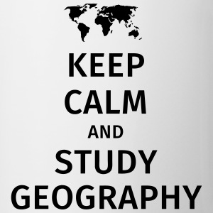 keep calm and study geography Tazas y accesorios - Taza