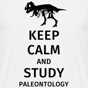 Keep calm and study paleontology T-shirts - Herre-T-shirt