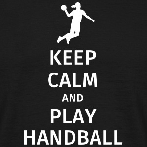 keep calm and play handball T-skjorter - T-skjorte for menn