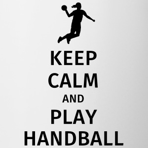 keep calm and play handball Kubki i dodatki - Kubek
