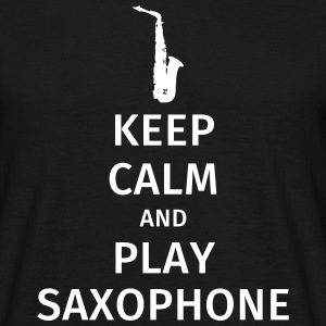 keep calm and play saxophe Camisetas - Camiseta hombre
