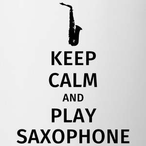 keep calm and play saxophe Kubki i dodatki - Kubek