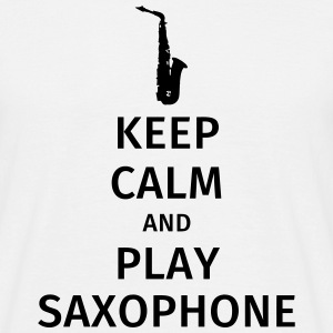 keep calm and play saxophe Koszulki - Koszulka męska