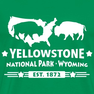 Buffalo Bison Büffel Yellowstone Nationalpark USA T-Shirts - Männer Premium T-Shirt