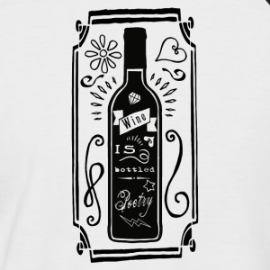 Wine is bottled poetry - Männer Baseball-T-Shirt