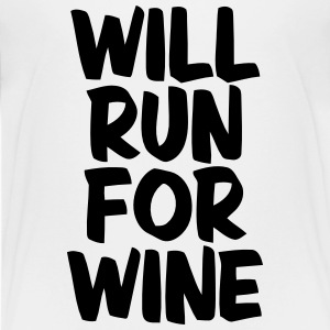 WILL RUN FOR WINE T-shirts - Teenager premium T-shirt