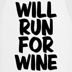 WILL RUN FOR WINE Kookschorten - Keukenschort